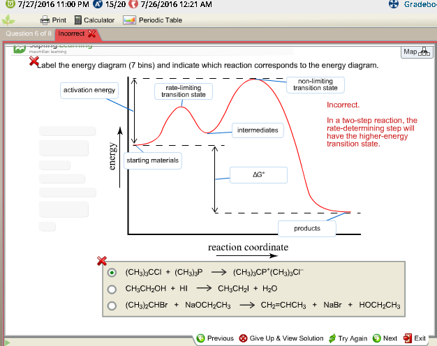 Label The Energy Diagram For A Two Step Reaction | Solved Label The Energy Diagram 7 Bins And Indicate Whi