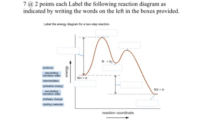 Solved Label The Following Reaction Diagram As Indicated