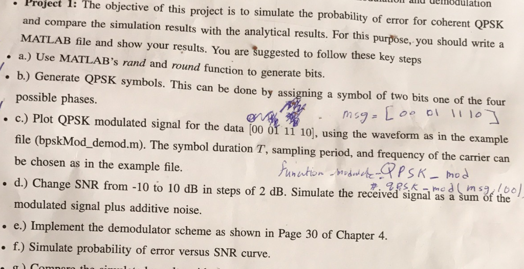 Solved: The Objective Of This Project Is To Simulate The P
