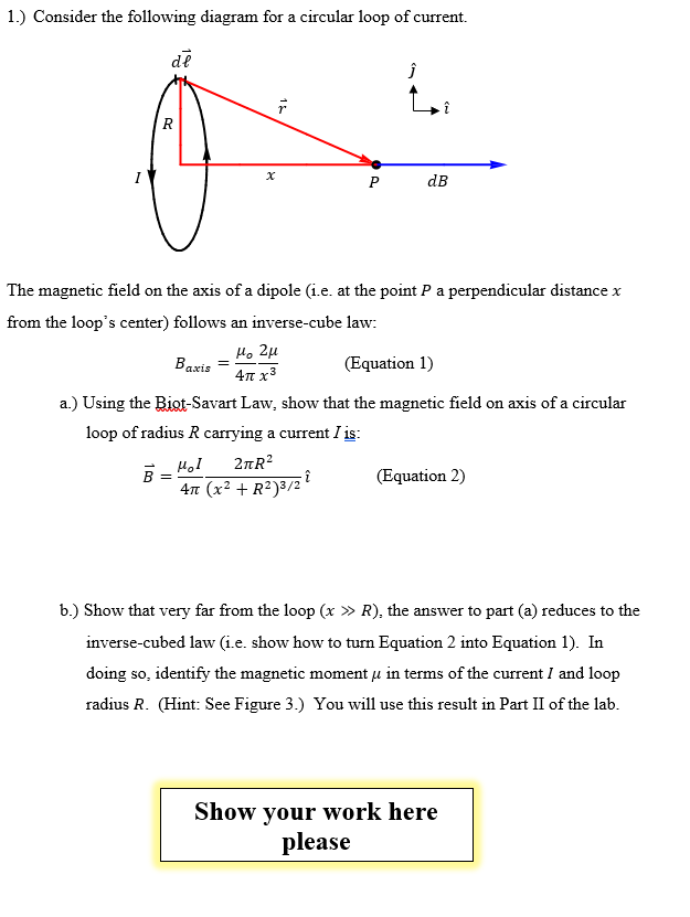 Solved 1 Consider The Following Diagram For A Circular L
