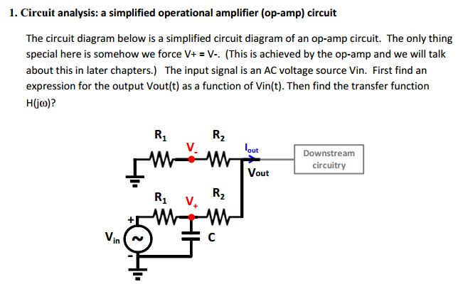circuit diagram analysis solved: the circuit diagram below is a simplified circuit ...