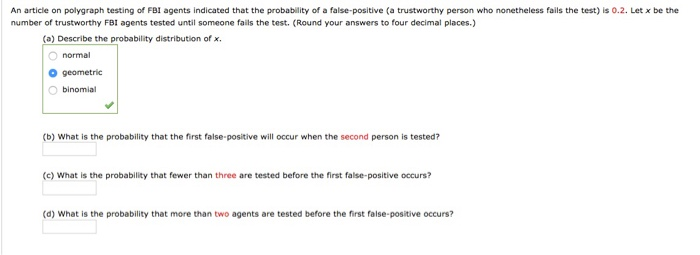 Solved: An Article On Polygraph Testing Of FBI Agents Indi