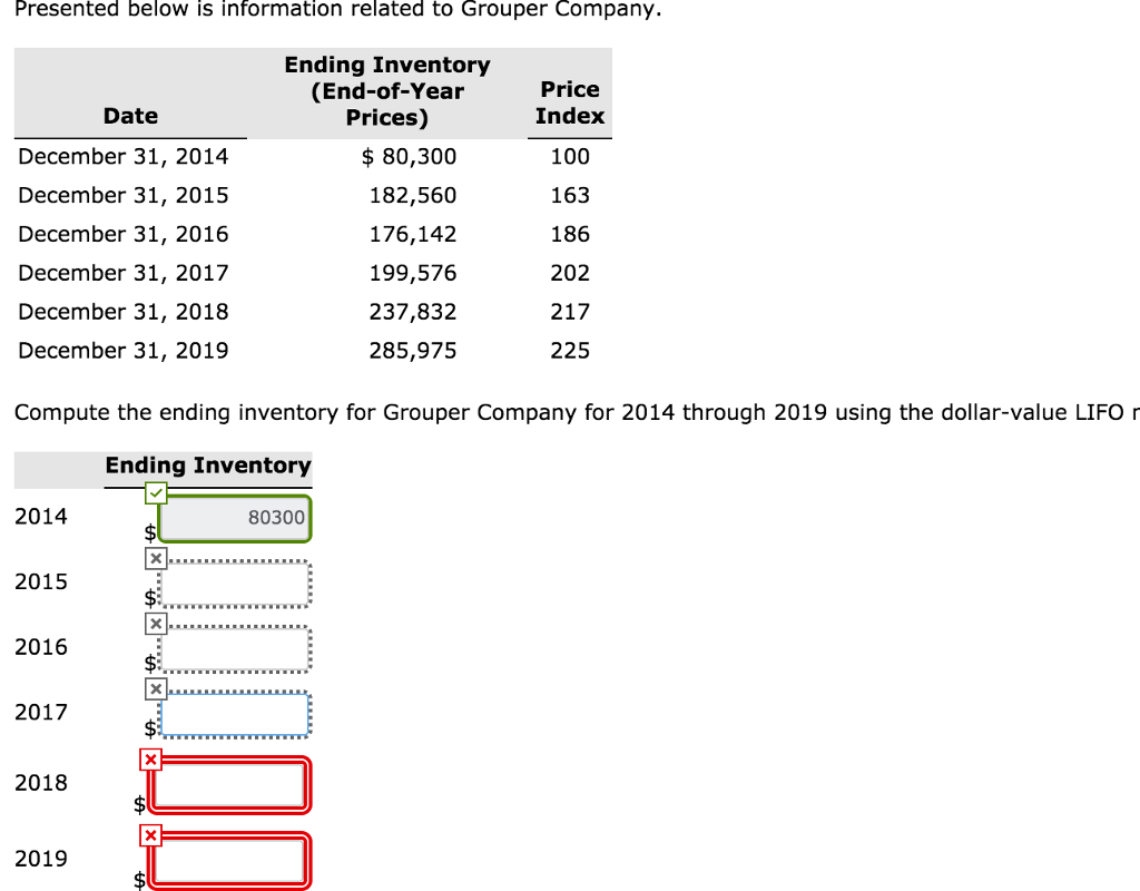 Accounting archive october 26 2017 chegg presented below is information related to grouper company ending inventory end of fandeluxe Gallery