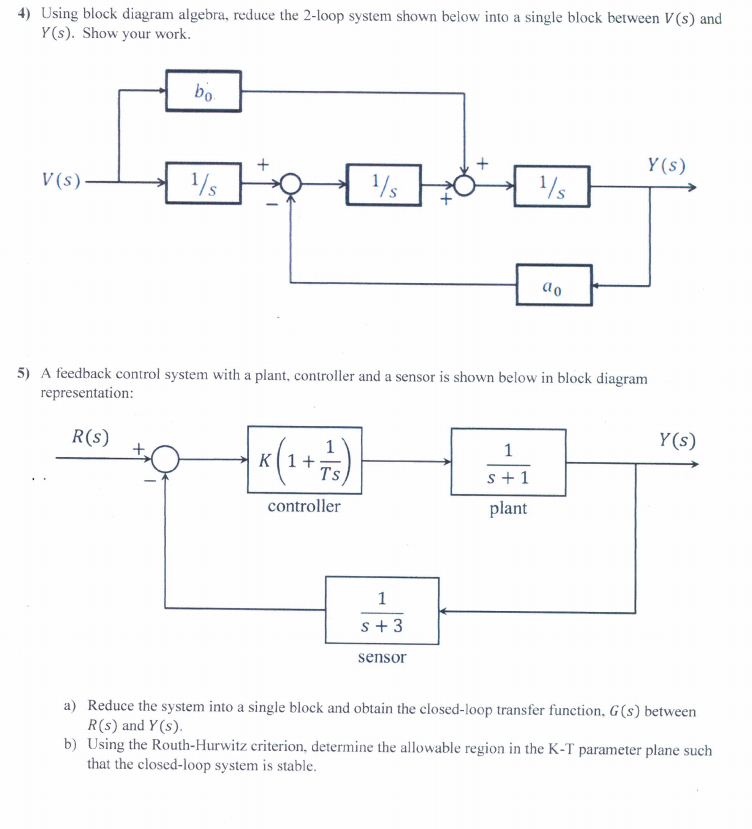 4 using block diagram algebra reduce the 2 loop chegg 4 using block diagram algebra reduce the 2 loop system shown below into ccuart Images