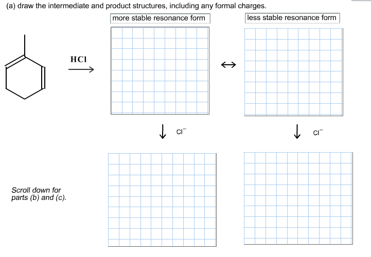 draw the intermediate and product structures, incl