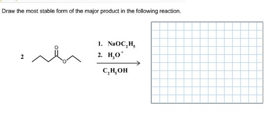 Solved: Draw The Most Stable Form Of The Major Product In ...