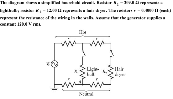 Solved the diagram shows a simplified household circuit the diagram shows a simplified household circuit asfbconference2016 Gallery