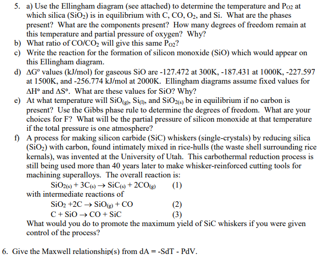 5 a use the ellingham diagram see attached to chegg 5 a use the ellingham diagram see attached to determine the temperature ccuart Images