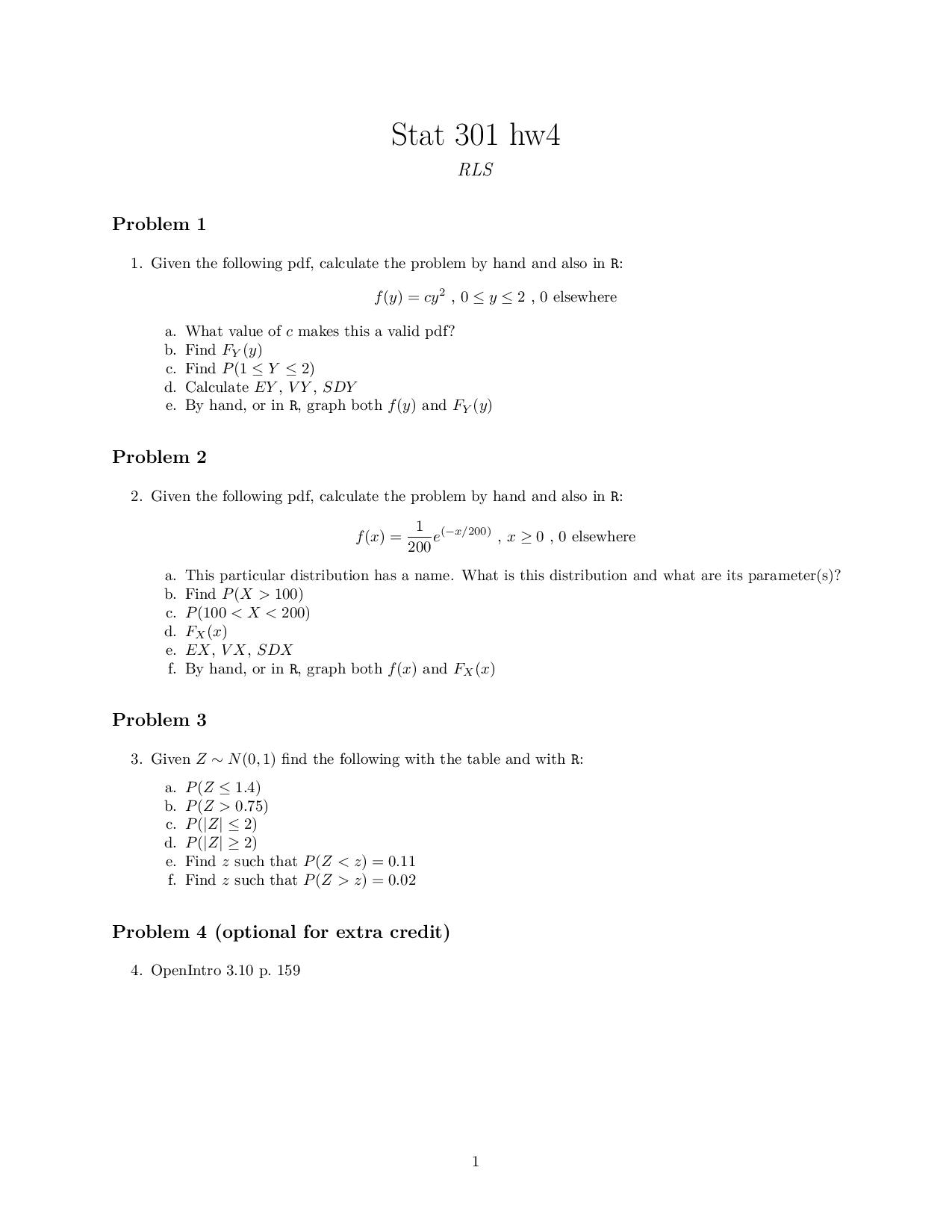 Given The Following Pdf Calculate The Problem By