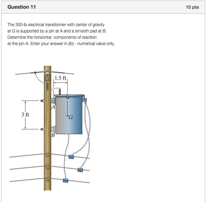 electrical transformer diagram. Question 11 10 Pts The 300-lb Electrical Transformer With Center Of Gravity At G Diagram M