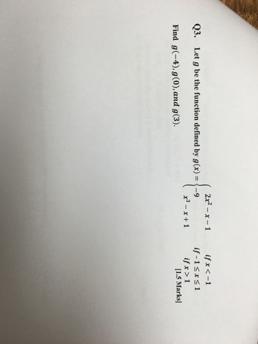 Solved: Let G Be The Function Defined By G(x) ={2x^2 - X ...