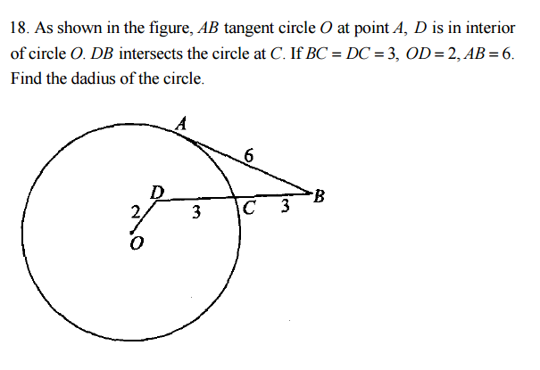 Solved: As Shown In The Figure, AB Tangent Circle O At Poi