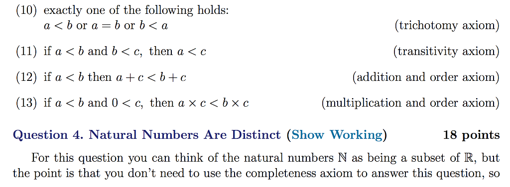 Solved: Which Satisfy The Nine Algebraic (or Field) Axioms