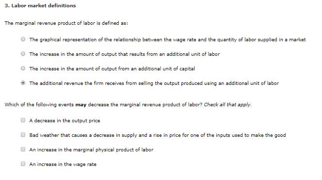 output market definition