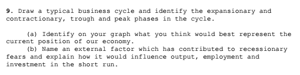 phases of a typical business cycle