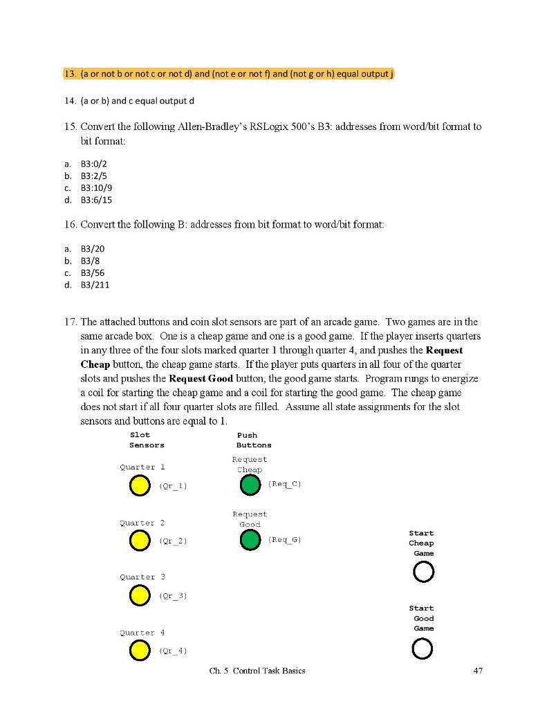 Solved: Convert The Following Allen-Bradley's RSLogix 500
