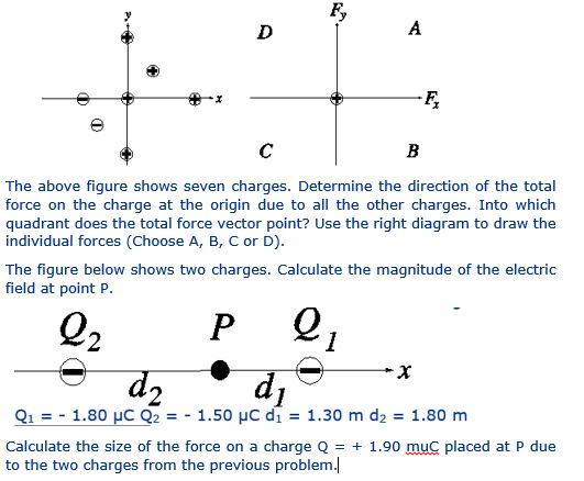 Solved: The Above Figure Shows Seven Charges. Determine Th ...