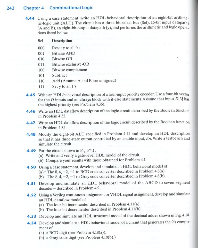 Solved 240 Chapter 4 Combinational Logic 419 Construct A Design 2bit Full Adder Circuit To Display Numbe Cheggcom Question Bcd D Subtractor Use The Ad