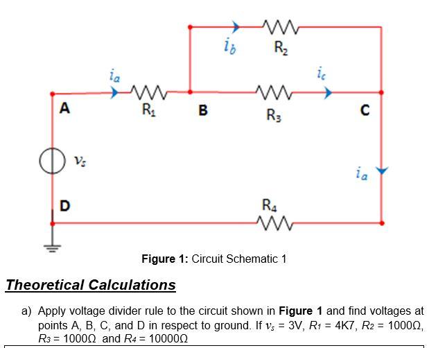 solved lb r3 figure 1 circuit schematic 1 theoretical ca rh chegg com Simple Circuit Schematic Series Circuit Diagram