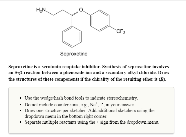 Solved: Seproxetine Is A Serot...