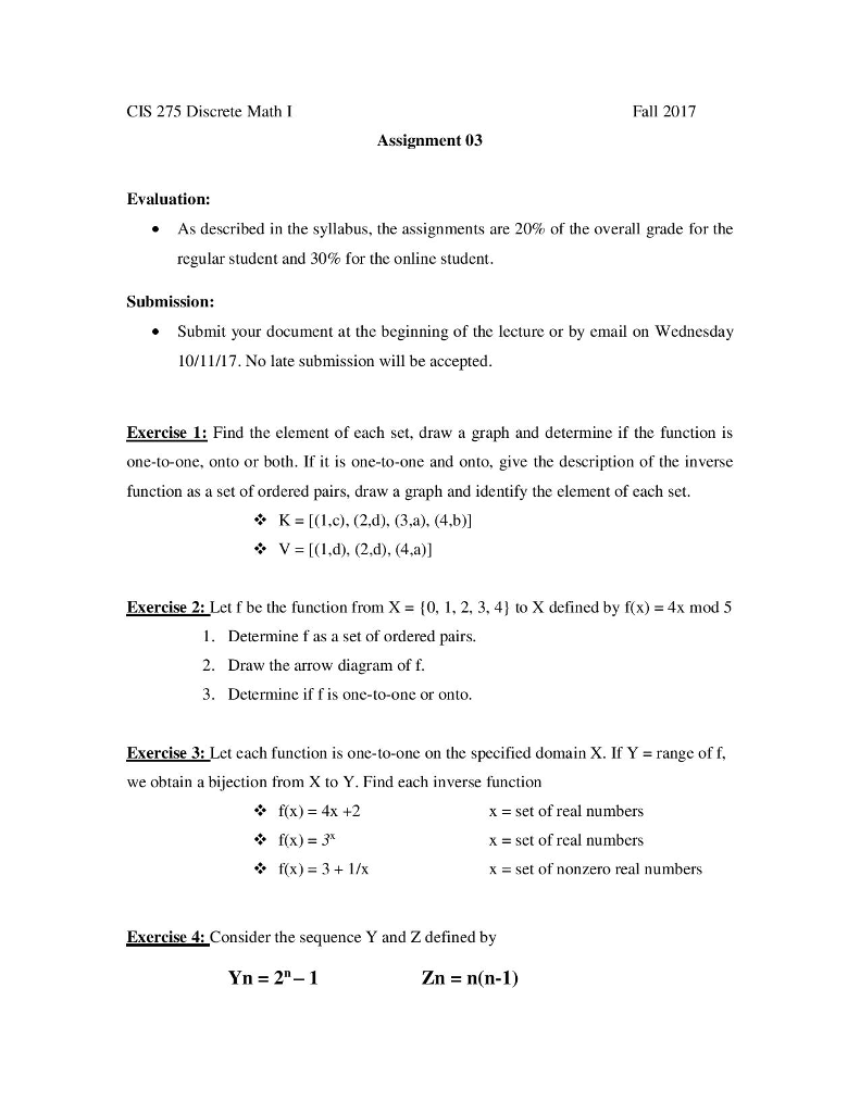 Solved cis 275 discrete math i fall 2017 assignment 03 ev cis 275 discrete math i fall 2017 assignment 03 evaluation as described in the syllabus ccuart Image collections