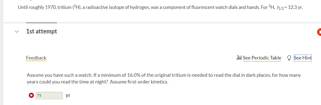 Solved Until Roughly 1970 Tritium 3 H A Radioactive