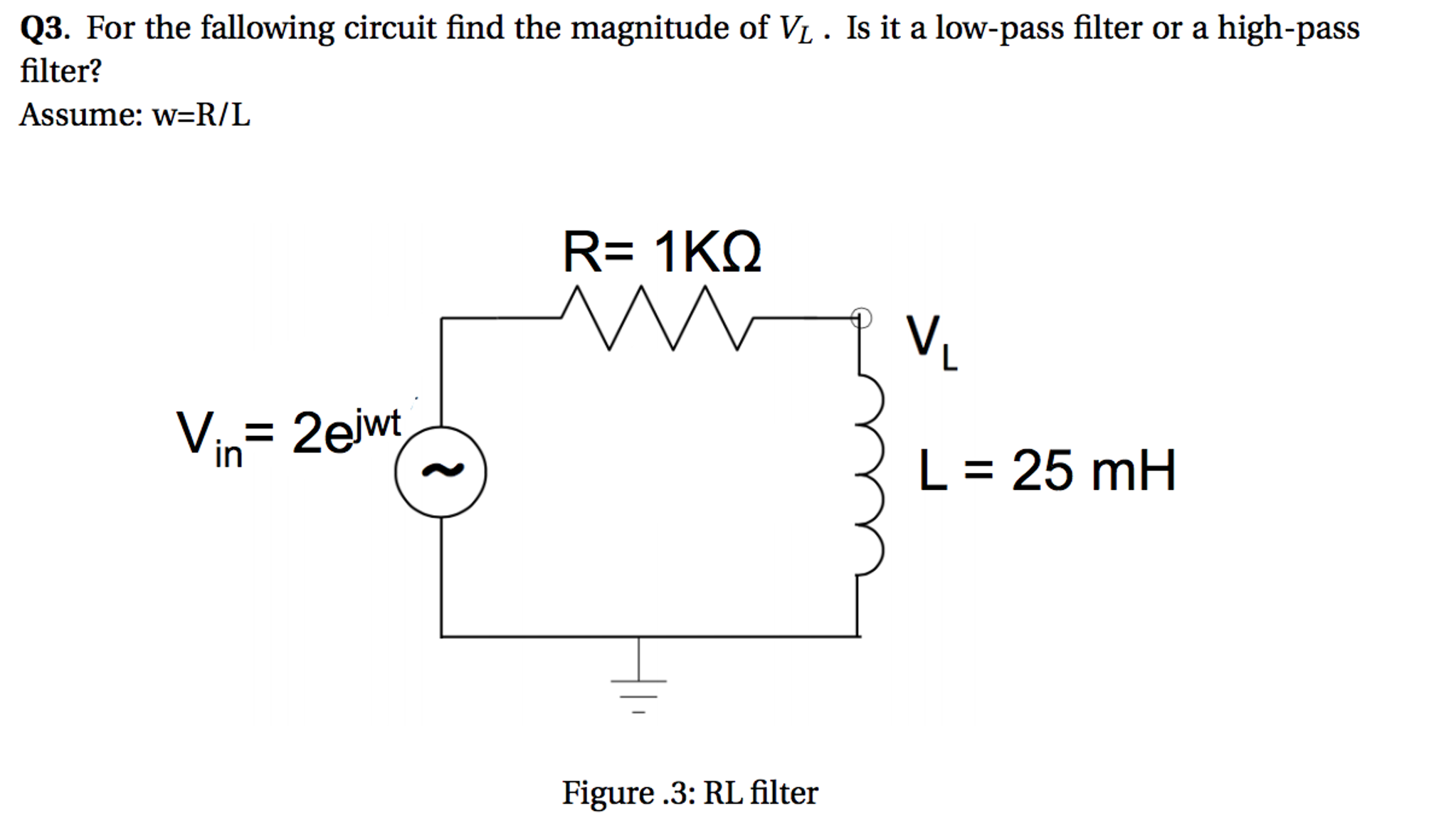 Solved For The Fallowing Circuit Find Magnitude Of V Low Pass Filter Diagram