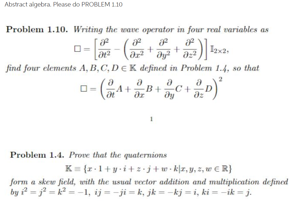 abstract algebra solved problems