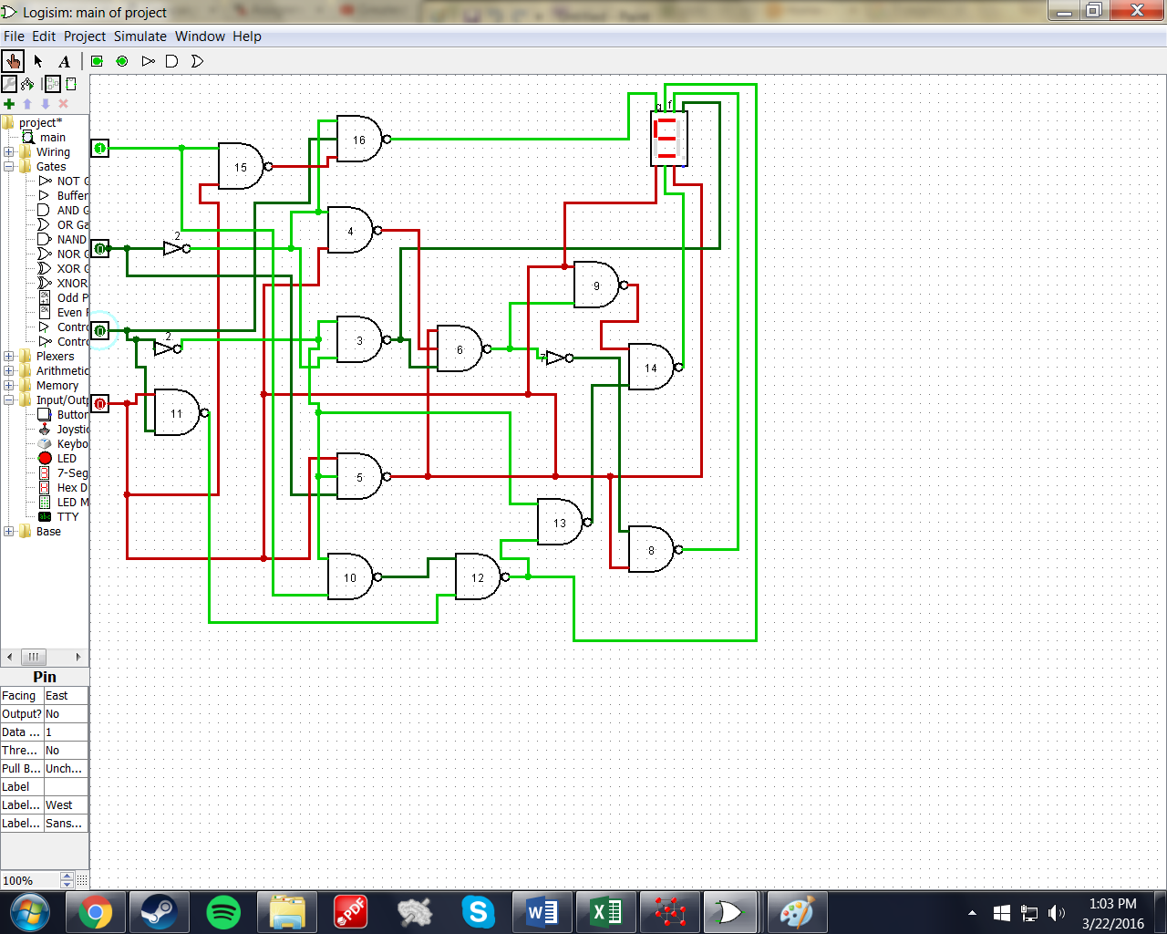 Solved So Im Trying To Build A Circuit For 7 Segment Seven Led Display System