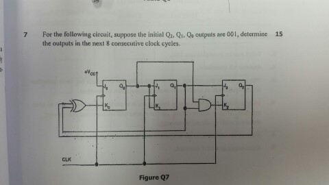 For the following circuit, suppose the initial Q_2