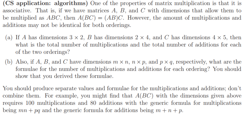 Solved: (CS Application: Algorithms) One Of The Properties ...