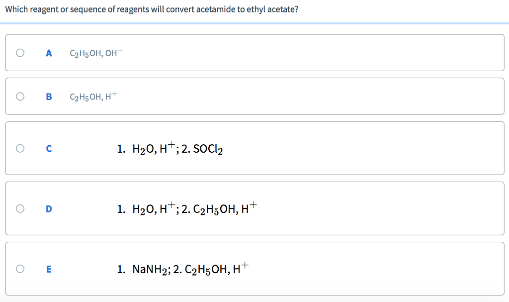 Solved Which Reagent Or Sequence Of Reagents Will Convert