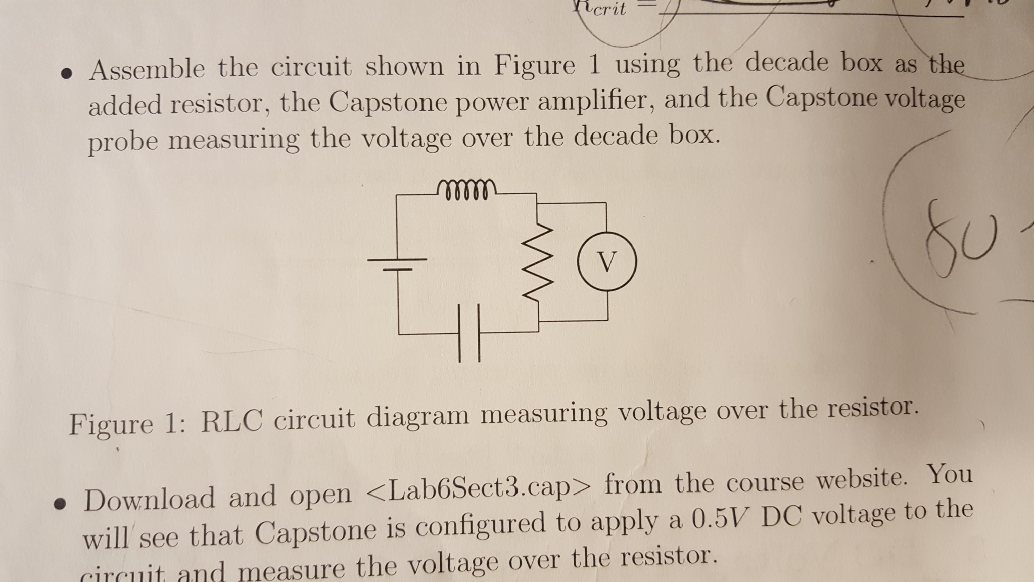 Solved It Is Rlc Circuit And Capacitance C 1021uf Indu Inductance Measuring Crit Assemble The Shown In Figure 1 Using