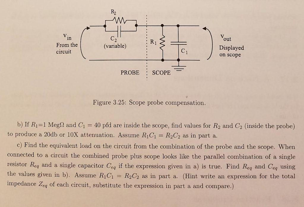 Solved: Design A 10X Probe For An Oscilloscope (see Schema