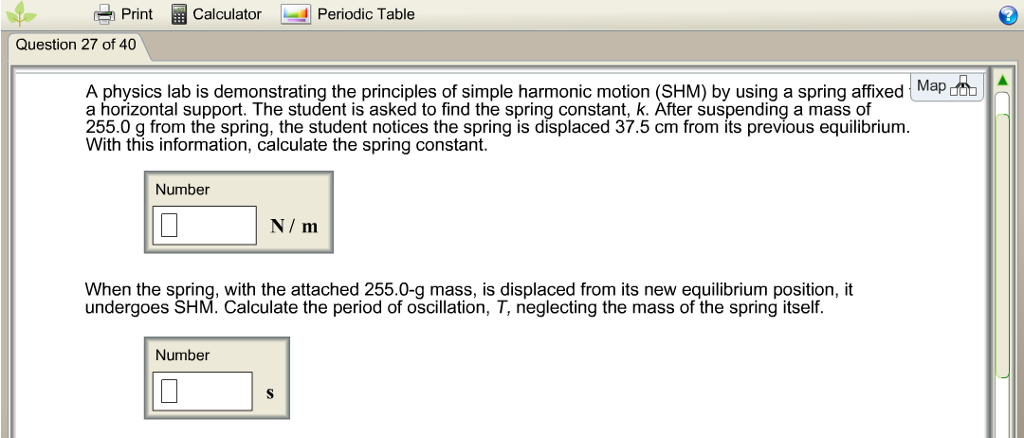 Solved Printcalculator Periodic Table Question 27 Of 40 A