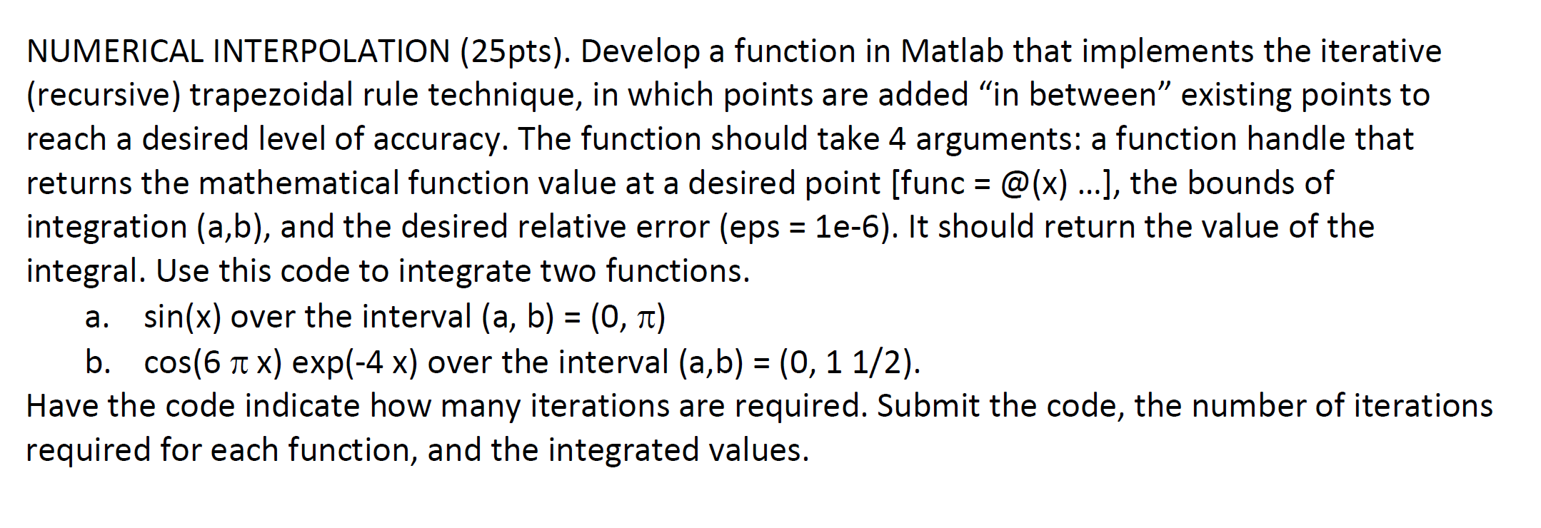 numerical interpolation develop a function in matl com any matlab expert
