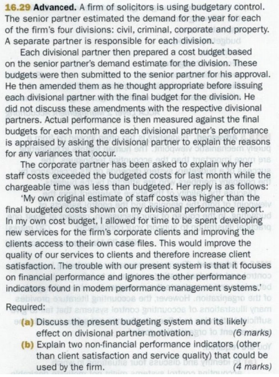explain budgetary control
