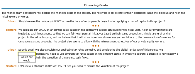 project appraisal example