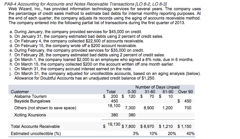 questions on accounts receivable and bad