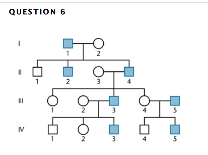 Solved The Pedigree Above Is Characteristic Of An Inherit