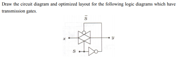 Solved: Draw The Circuit Diagram And Optimized Layout For ...