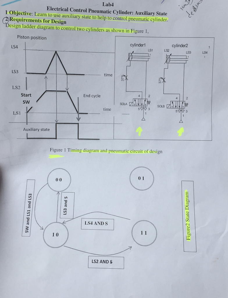 Solved: Topic: Electrical Control Pneumatic Cylinder: Auxi ...