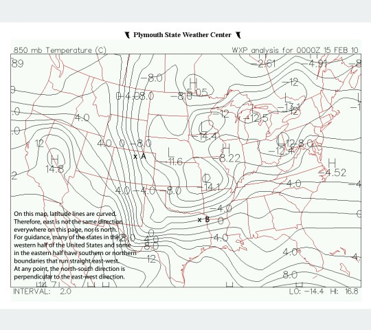 Plymouth State Weather Center 850 Mb Temperature Chegg Com
