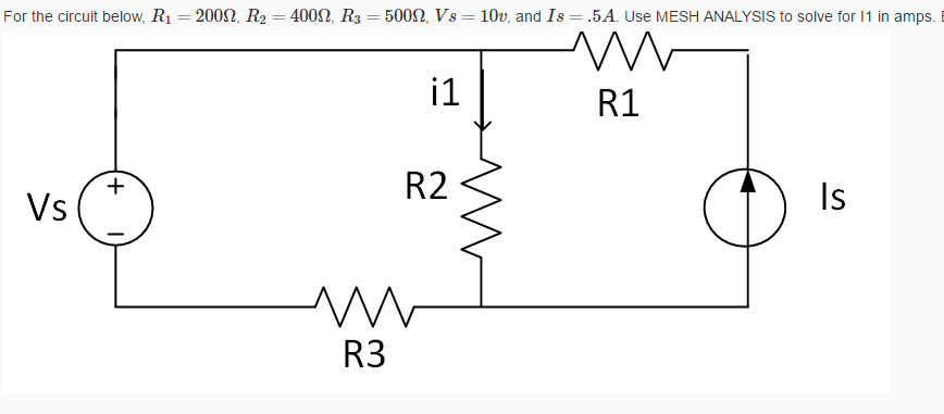 For the circuit below, R_1 = 200 ohm, R_2 = 400 oh