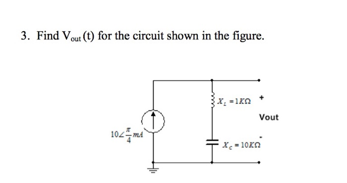 media%2Fd23%2Fd23434ad 3f8f 4de2 a8f2 fbb44bc3441c%2Fimage - Using phasor techniques solve for the voltage v(t) in the circuit shown here. is(t)=10 cos2t A
