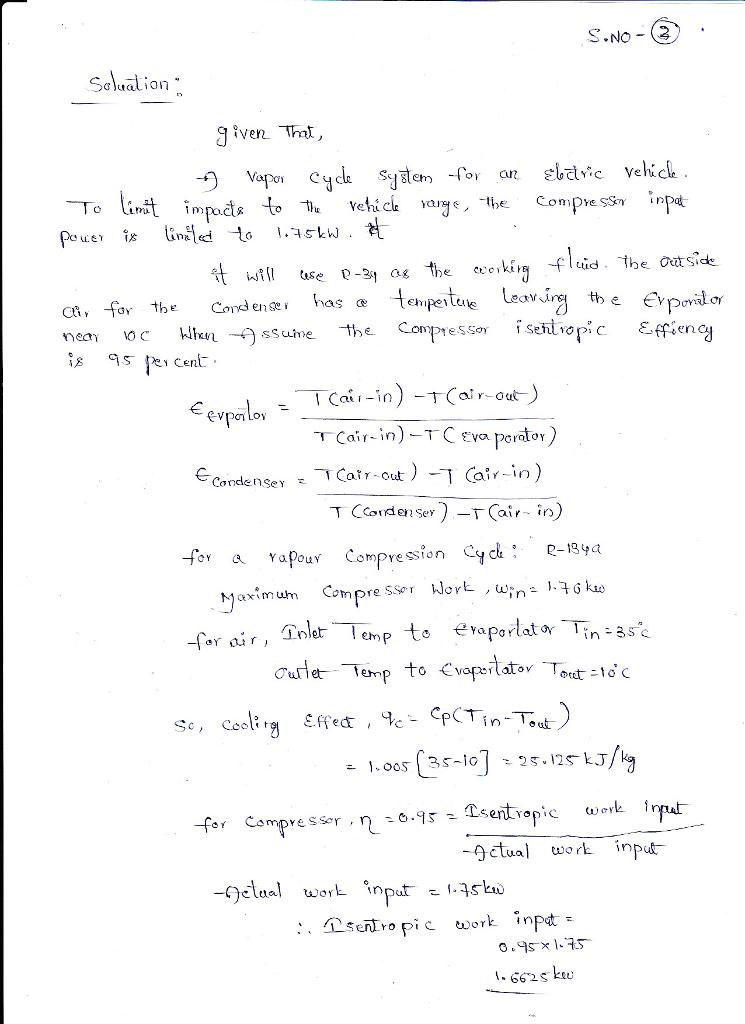 Vapour Compression Refrigeration Cycle T Diagram