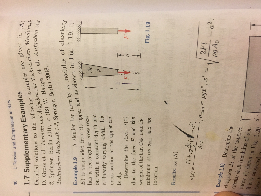 Solved Example 19 But Suppose The Mass Density Of The Ba