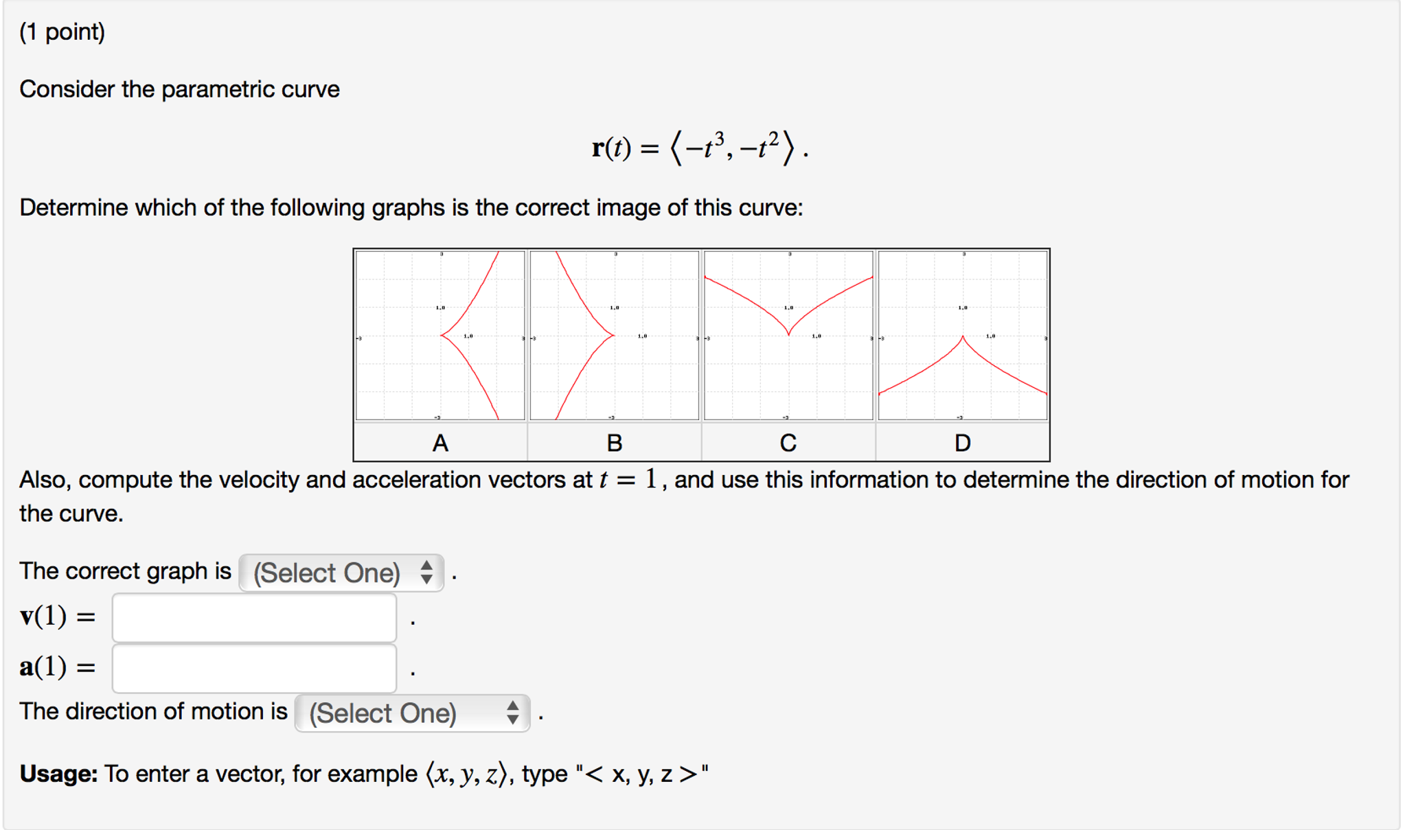 Solved: Consider The Parametric Curve R(t)=(-t^3, -t^2)  D