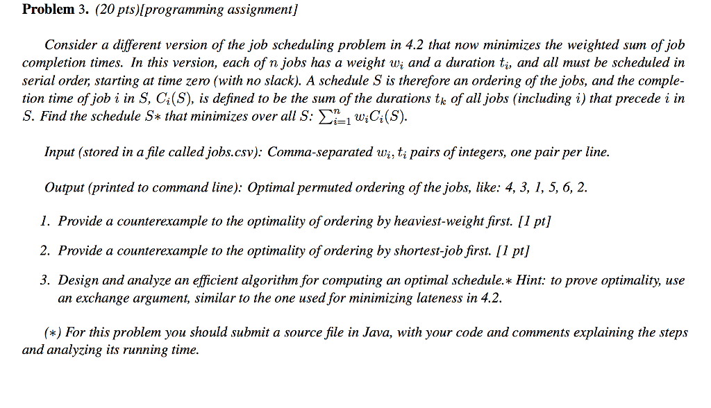 Problem 3  (20 Pts)lprogramming Assignment] Consid    | Chegg com
