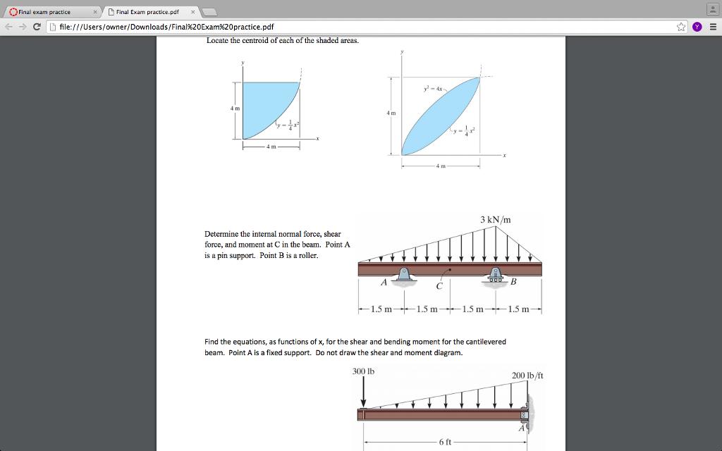e9ee2fea Solved: Final Exam PracticeFinal Exam Practice.pdfx ← → D ...
